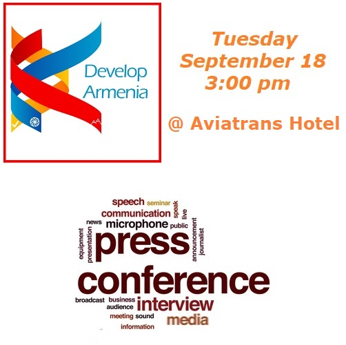 Press Conference Develop Armenia Square